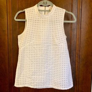 White sleeveless J.Crew Top